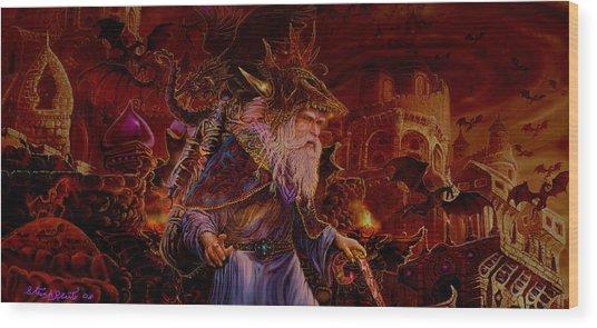 Merlin At Hells Gate Wood Print