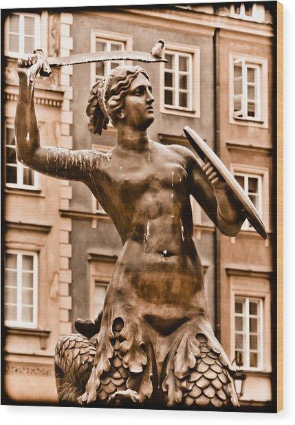 Warsaw, Poland - Mermaid Wood Print