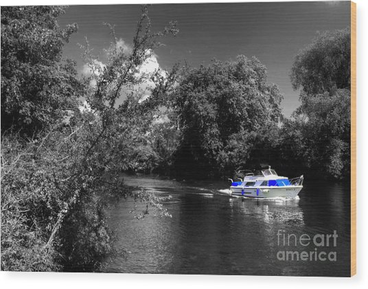 Messin About On The River Wood Print