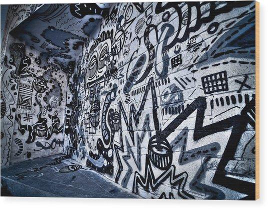 Miami Wynwood Graffiti 2 Wood Print