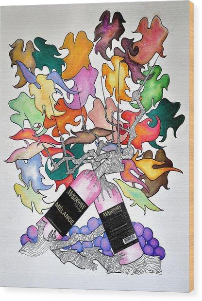 Michigan Wine Wood Print by Glenn Calloway