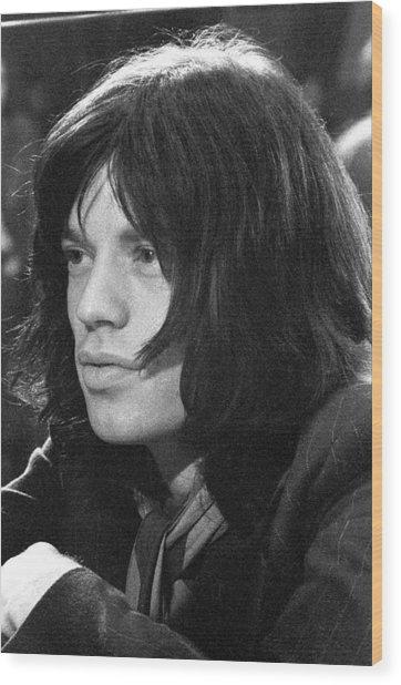Mick Jagger 1968 Wood Print