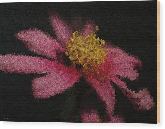 Midnight Bloom Wood Print