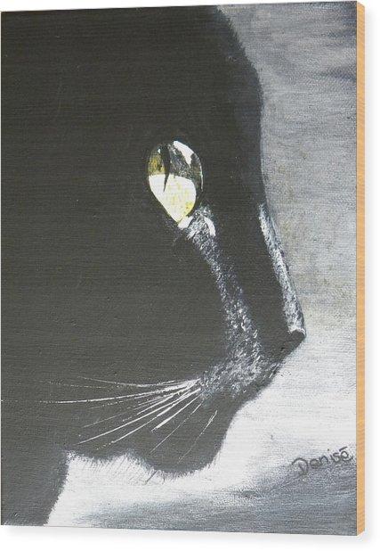 Midnight Prowler Wood Print