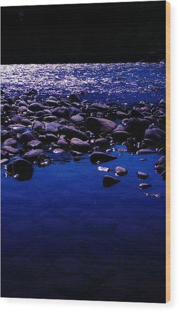 Midnight Swim Wood Print by Virginia Lei Jimenez