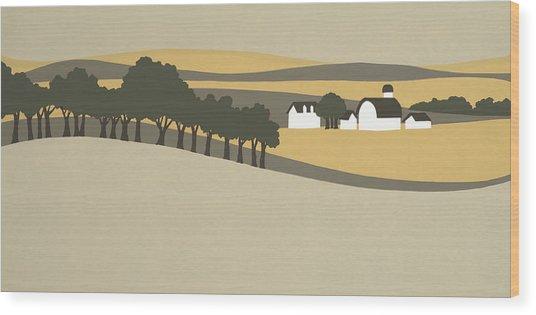 Midwest Landscape Wood Print
