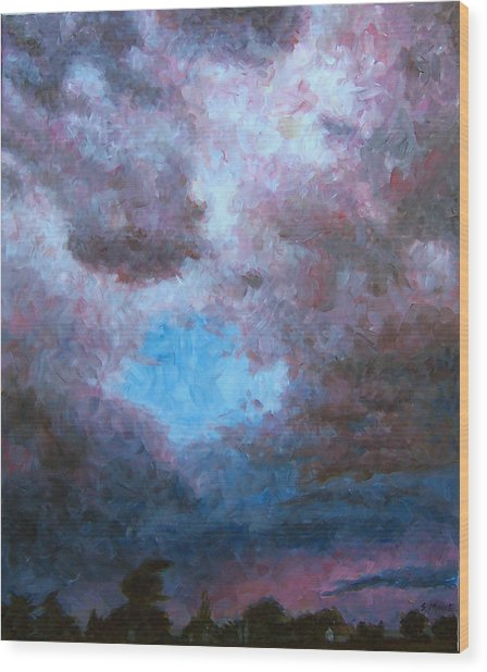 Midwest Tempest Wood Print by Susan Moore