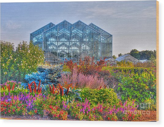 Miejer Gardens Revisited Wood Print by Robert Pearson