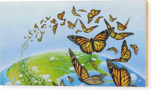 Migration Wood Print