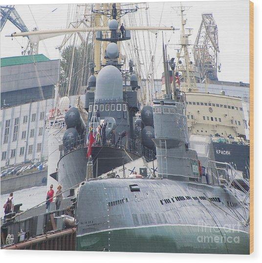 Military Port Wood Print by Yury Bashkin