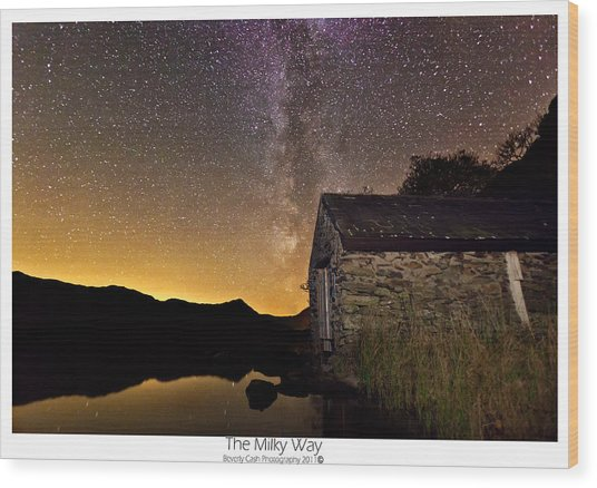 Milky Way Above The Old Boathouse Wood Print