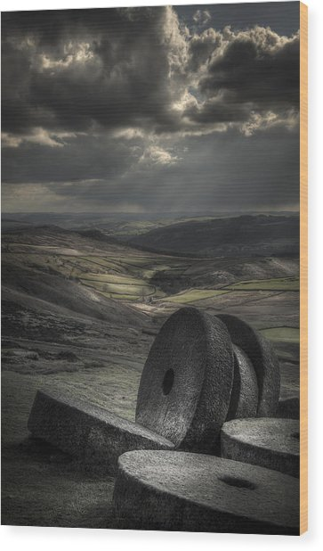 Millstones Wood Print by Andy Astbury