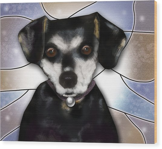 Min Pin Wood Print by Melisa Meyers