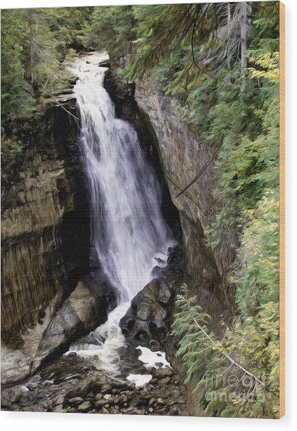 Miner Falls Wood Print