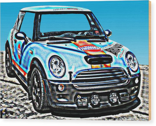 Mini Cooper Competition Wood Print by Samuel Sheats