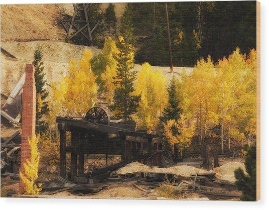 Mining Town Wood Print