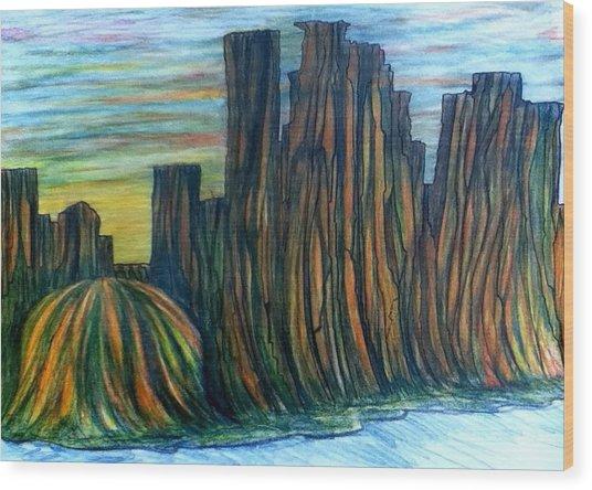 Minne Valley Wood Print by Richard  Hubal