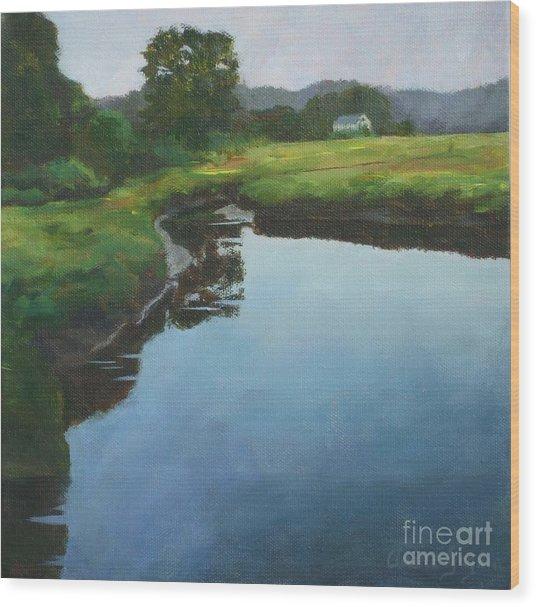 Mirror Creek In Essex Wood Print