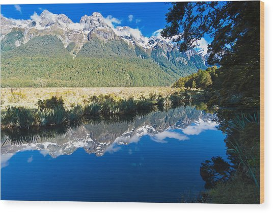 Mirror Lakes Wood Print by Graeme Knox