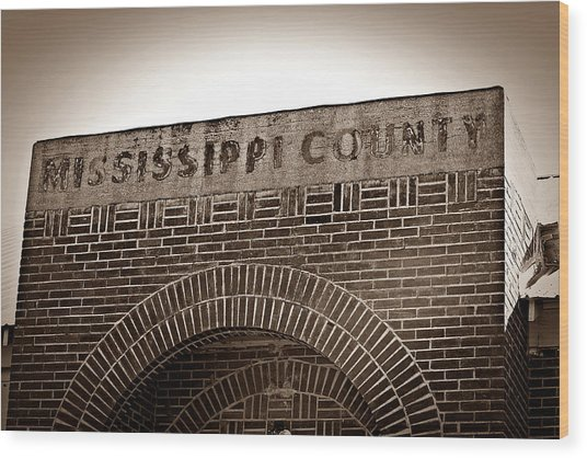 Missco High School In Arkansas Wood Print