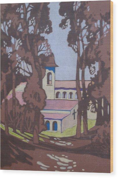 Mission 1 Wood Print