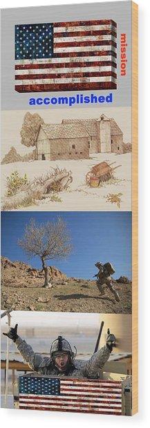 Mission Accomplished Wood Print by Terri Mertz
