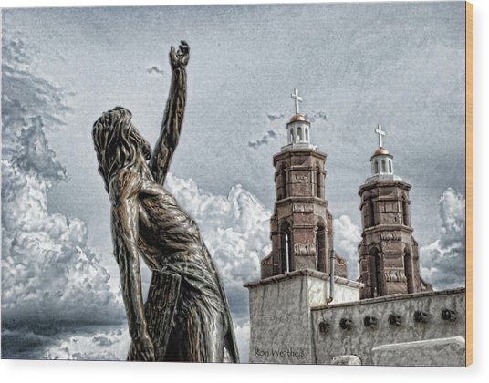 Mission At San Luis Wood Print