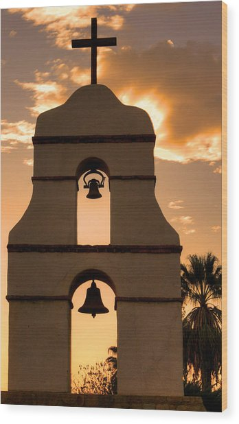 Mission Bells Wood Print