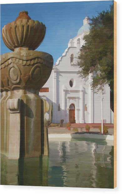Mission Santa Cruz Wood Print