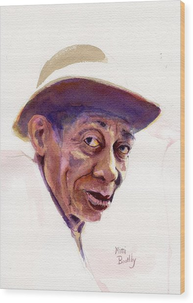 Mississippi John Hurt Wood Print by Mimi Boothby