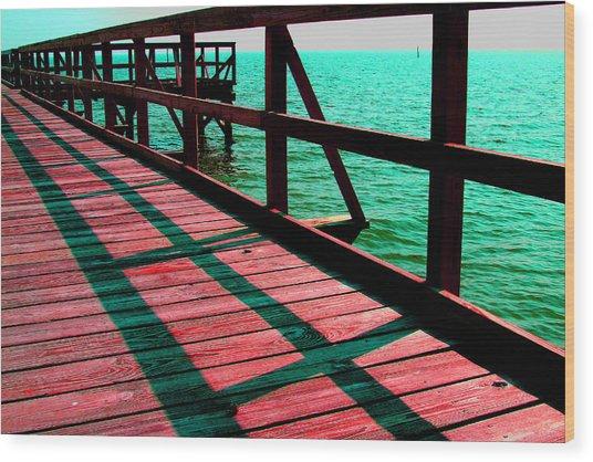 Mississippi  Pier - Ver. 6 Wood Print by William Meemken
