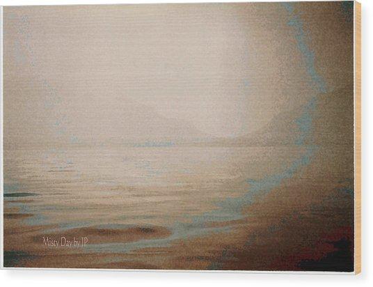 Misty Day Wood Print by Jean Paul LeBlanc