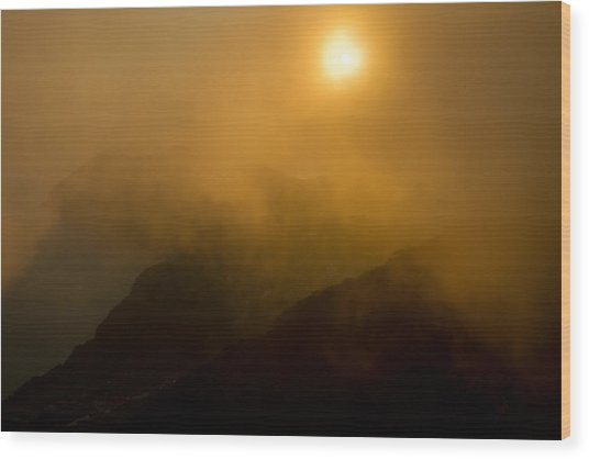 Misty Hongpo Sunset South Korea Wood Print