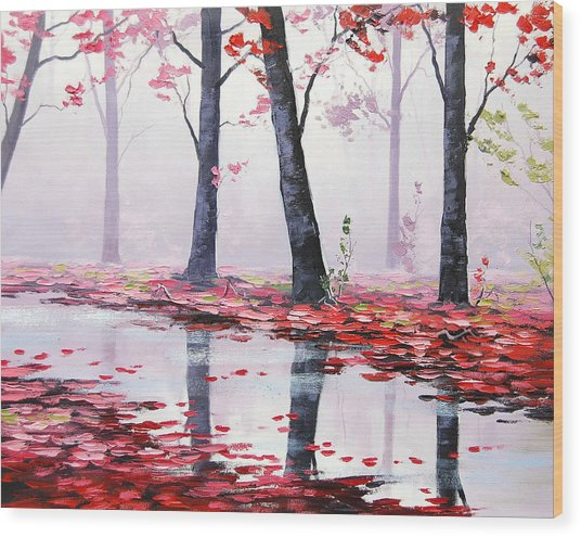 Misty Pink Wood Print by Graham Gercken