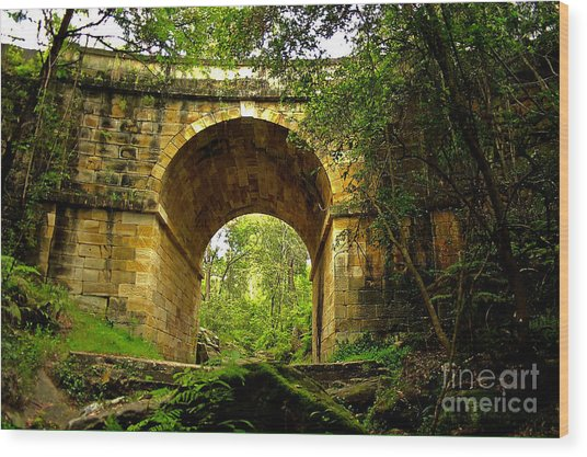 Mitchells Pass Bridge Lapstone A Convict Built Bridge Wood Print