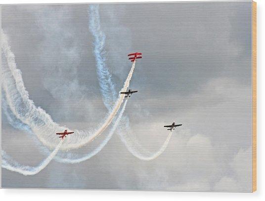Mixed Aerobatics Wood Print