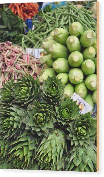 Mixed Vegetables. Wood Print by Fernando Barozza
