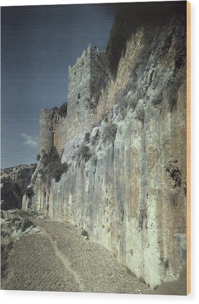 Moat Of Saladins Castle, A Byzantine Wood Print by Everett
