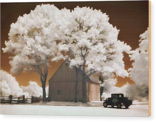 Model A And Old Barn Wood Print