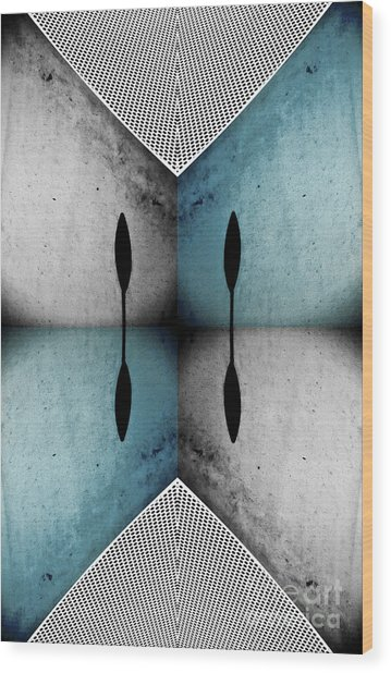 Modern Abstract With An African Theme 3. Wood Print by Emilio Lovisa