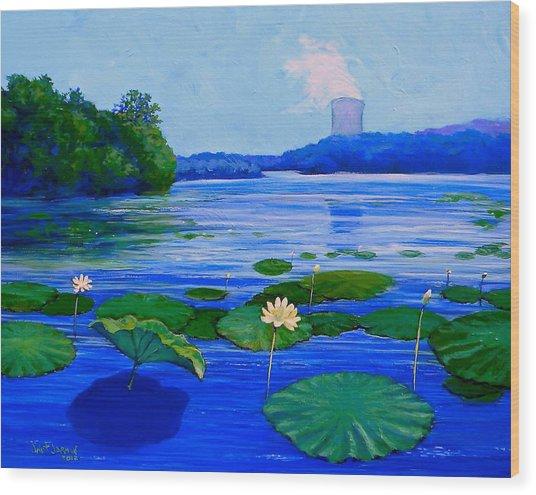 Modern Mississippi Landscape Wood Print