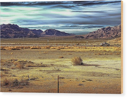 Mojave Desert Wood Print by Andre Salvador