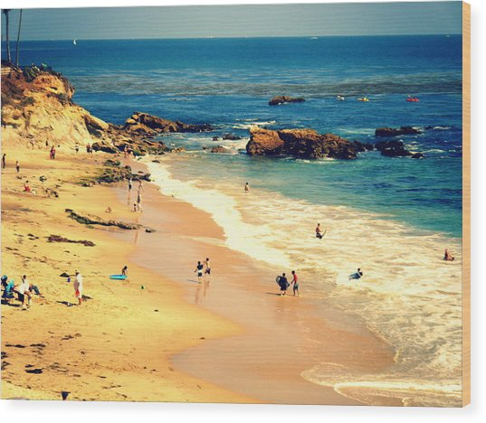 Monarch Beach Day Wood Print by Kevin Moore