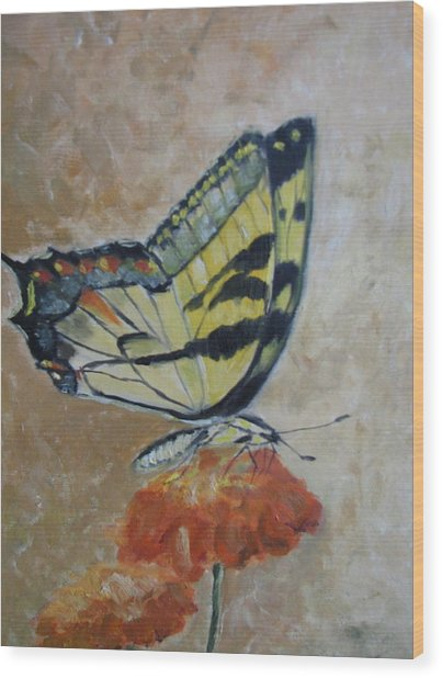Monarch Wood Print by Iris Nazario Dziadul