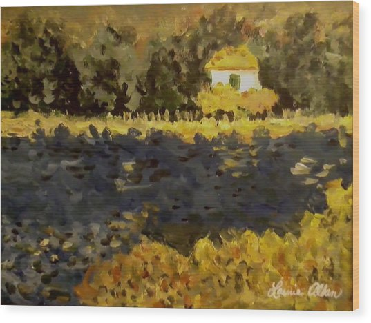 Monet House Wood Print by Laurie Allan