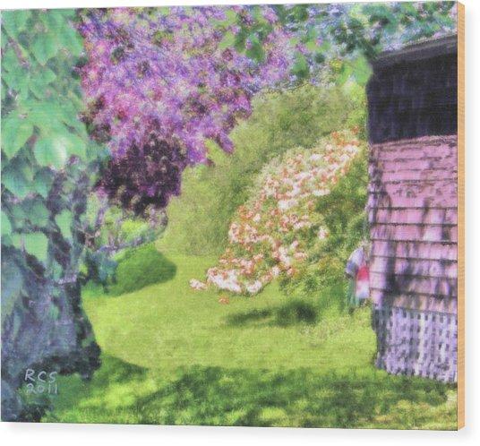 Monhegan Blooms Wood Print
