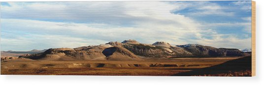 Mono Craters Panorama Wood Print