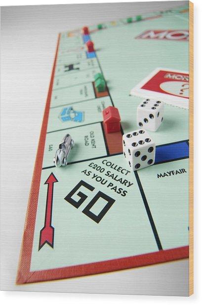 Monopoly Board Game Wood Print by Tek Image