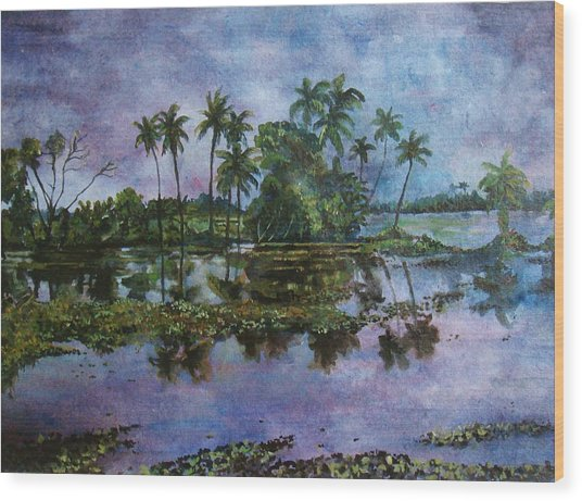 Monsoon Glory-ii Wood Print by Manjula Prabhakaran Dubey