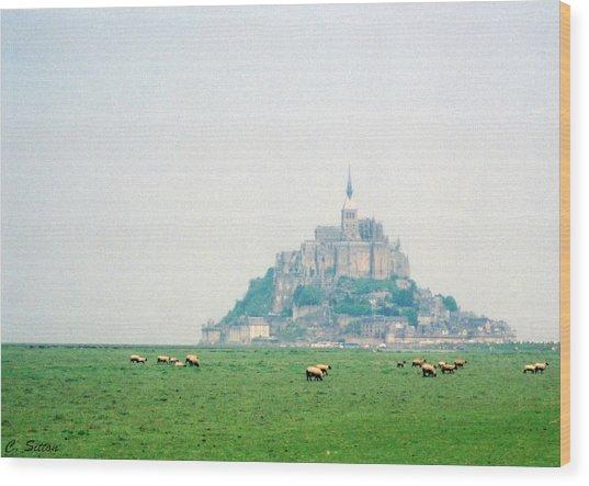 Mont St. Michel Wood Print
